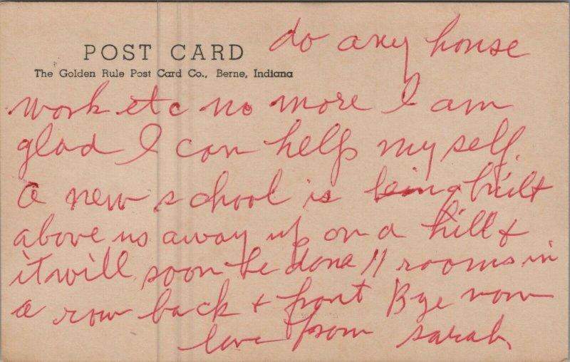 A Poem Here Am I vintage postcard