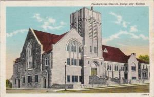 Church Presbyterian Church Dodge City Kansas 1950 Curteich