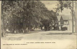 Randolph MA Main St. North c1905 Postcard