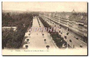 Paris Old Postcard perspective of the Rue de Rivoli