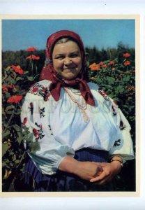 207526 UKRAINE milkmaid Galina Boyko Old poster card