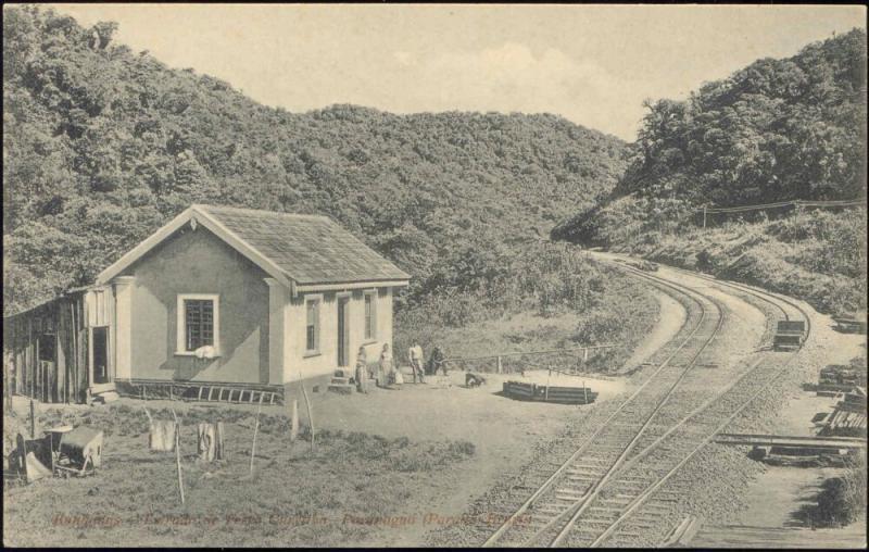 brazil, BANHADAS, Estrada de Ferro Curitiba - Paranaguá, Railway Station (1910s)