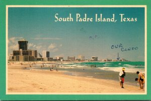 Texas South Padre Island View Of Beach 1987