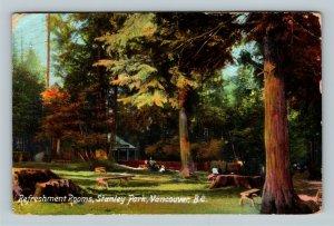 Vancouver BC Scenic Stanley Park Refreshment Rooms Vintage Canada c1909 Postcard