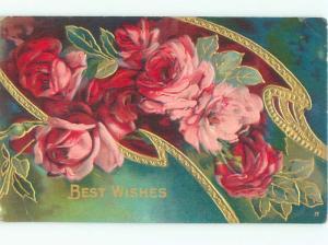 Divided-Back BEAUTIFUL FLOWERS SCENE Great Postcard AA2780
