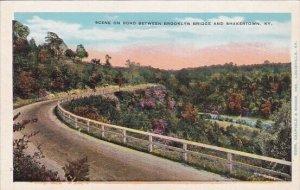 Scene On Road Between Brooklyn Bridge And Shakertown Kentucky
