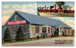 Peace Light Inn and Court, Gettysburg, PA Postcard