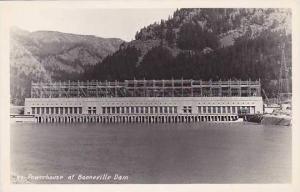Oregon Powerhouse At Bonneville Dam Real Photo RPPC
