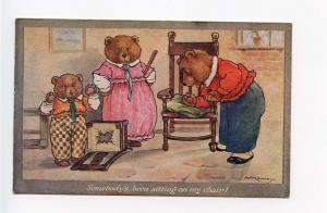 Bears Somebody's Been Sitting in my Chair! Signed Kennedy Postcard