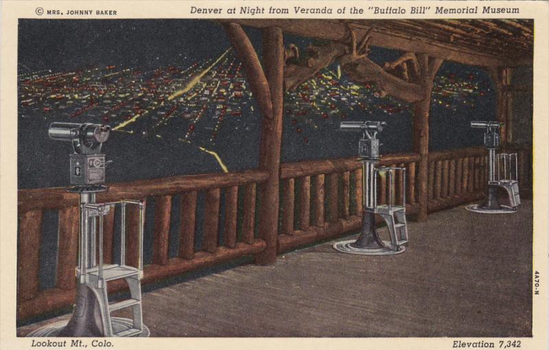 Denver At Night From Veranda Of The Buffalo Bill Memorial Museum, LOOKOUT M...