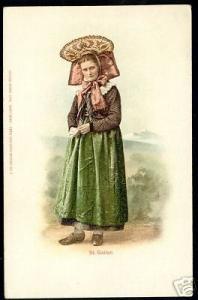 switzerland, SANKT GALLEN, Costumes, Dress (ca. 1900)