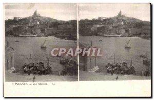 Marseille - Vue Generale - Old Postcard