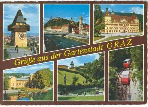 Austria, Grusse aus der Gartenstadt GRAZ, 1968 used Postcard