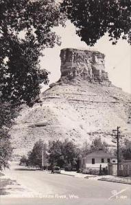 Wyoming Green River Castle Rock Real Photo RPPC