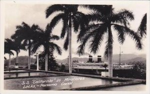 Panama Steamship California In Miraflores Locks Real Photo RPPC