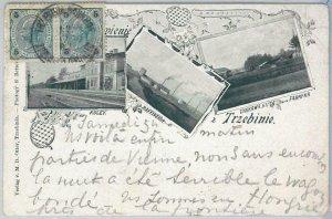 66260  - VINTAGE POSTCARD Ansichtskarten - Polen POLAND - GRUSS AUS Trzebinia