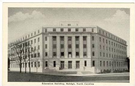 Education Building, Raleigh, North Carolina, 1920-40s