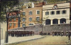 gibraltar, Church Parade, Hargraves Barracks (1912)