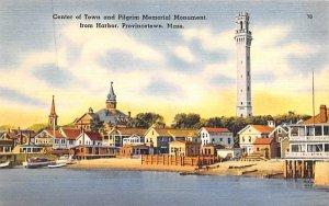 Center of Town  Provincetown, Massachusetts Postcard