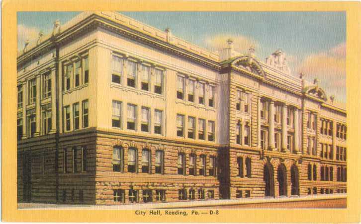Linen of City Hall Reading Pennsylvania PA