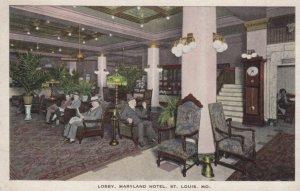 ST. LOUIS, Missouri, 1900-10s; Lobby, Maryland Hotel