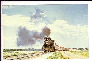 Canadian National Railway Freight Train, West of Winnipeg, Manitoba,