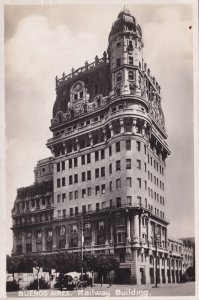 Buenos Aires Railway Building South America Real Photo Postcard