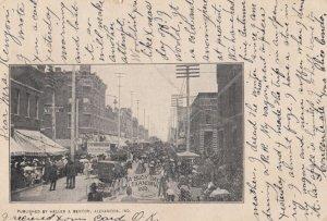 ALEXANDRIA , Indiana , 1905 ; Busy day on Main Street