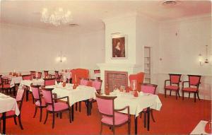 Calgary Alberta~Brick Faux Fireplace~Barney's Georgian Room~Hotel Stampeder 1950