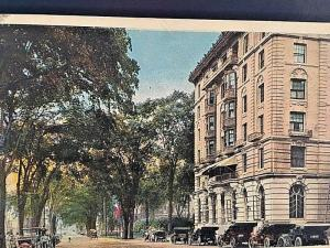 Postcard  Hand Tinted  Hotel Elton & West Main St. in Waterbury, CT.  W3