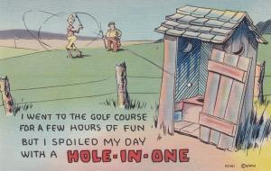 Comic, Two Guys Playing Golf, 1930-40s