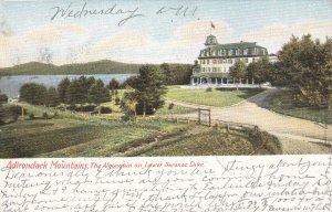 ADIRONDACK MOUNTAINS , New York, 1906; The Algonquin on Lower Saranac Lake