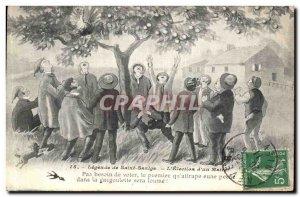 Old Postcard Legends Of St. Saulge The election of a mayor Folklore