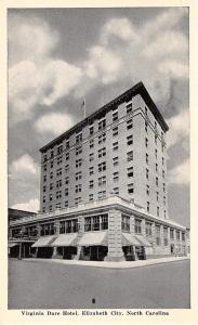 Elizabeth City North Carolina~Virginia Dare Hotel~1920 Postcard