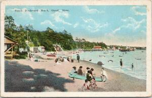 South Boulevard Beach Onset MA Mass Unused Postcard F2