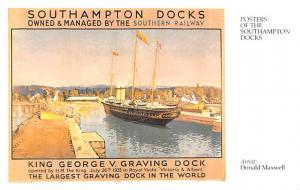 King George V Graving Dock, Donald Maxwell Sailboat Reproduction Unused