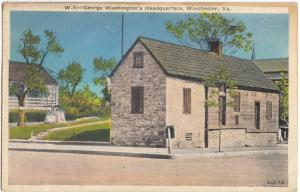 George Washington's Headquarters, Winchester, VA, 1940 used Postcard
