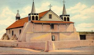 New Mexico Isleta Old Church Of St Augustine Curteich