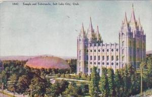 Utah Salt Lake City Temple And Tablernacle 1912