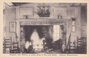 Massachusetts Amherst  Fireplace With Window In Living Room Of The Lord Jeffe...