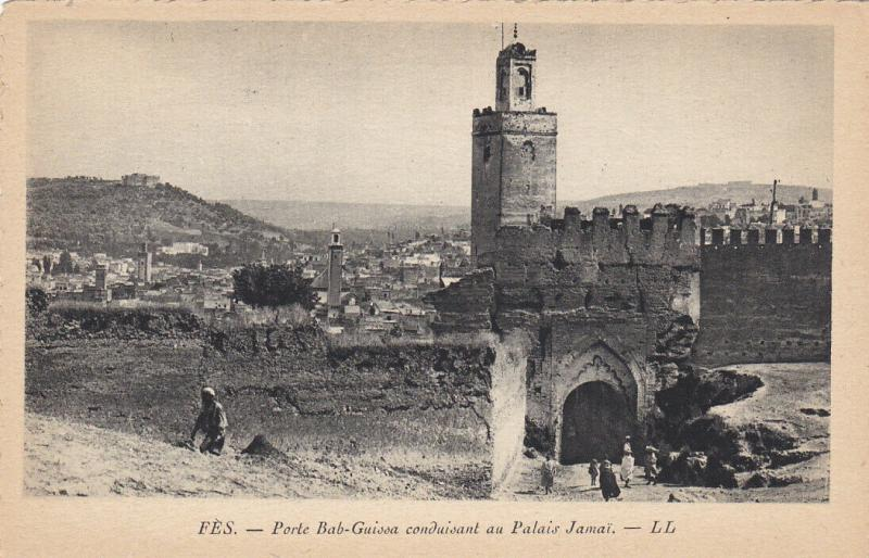 FEZ , Morooco , 00-10s ; Porte Bab-Guissa conduisant au Palais Jamai