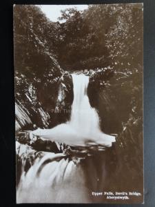 Wales: Aberystwth Upper Falls DEVIL'S BRIDGE  c1927 RP Postcard