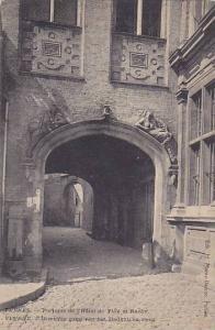 Portique De l'Hotel De Ville Et Ruelle, Veurne (West Flanders), Belgium, 1900...