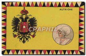 Old Postcard Flag Woman Austria austria