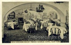 Prince George Hotel, New York, NY USA Restaurant Old Vintage Antique Postcard...