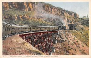 Johnsons Canyon Arizona California Limited Crossing Antique Postcard K54307