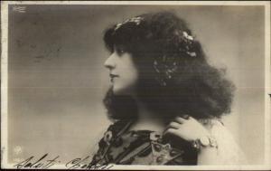 Beautiful Woman Jewelry & Hair Piece c1900 Real Photo Postcard
