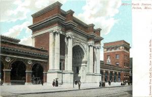 Boston Massachusetts~North Railroad Passenger Station~Ladies at Curb~1905