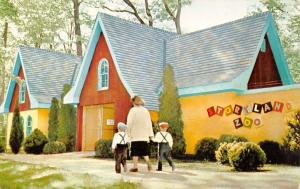 South Bend Indiana~Entrance to Story Land Zoo~Boys in Suspenders~Cloetingh 1950s