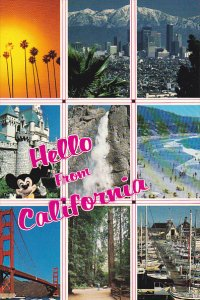 Greetings From California Multi View with Mickey Mouse